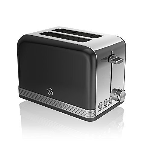 Swan ST19010BN 2 Slice Retro Toaster