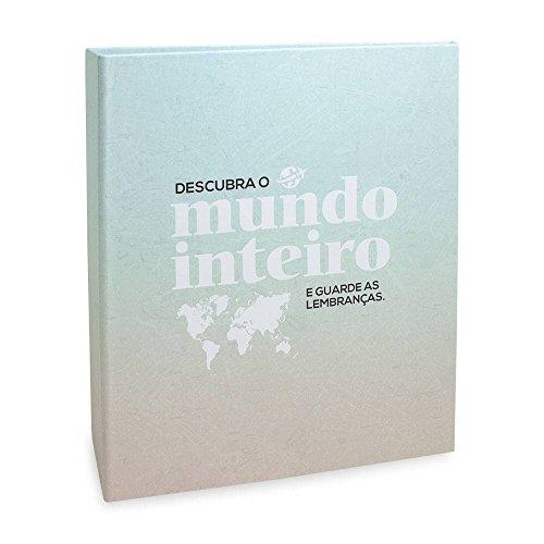 Álbum de Fotos Viagem Descubra o Mundo - 400 Fotos 10x15 cm - 24,8x24,7 cm