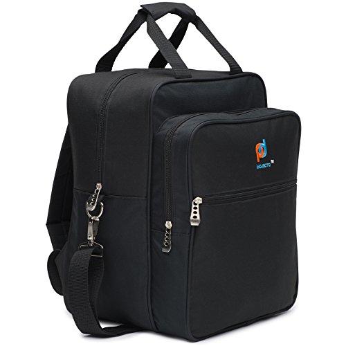 Grand sac à dos style sac à déjeuner isotherme – Élégant Design unique. Plusieurs Grandes poches zippées, Bretelles réglables, clips en métal, Convertis dans un sac à dos pour transport mains libres.