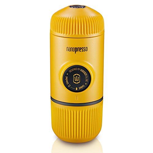 WACACO Nanopresso Macchina Caffe portatile, Mini Espresso Portatile, Versione di Aggiornamento di Minipresso, Operazione Manuale, Caffe Viaggio per Campeggio o Vacanze, Edizione di Pattuglia Giallo