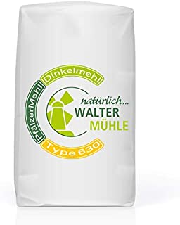 Dinkelmehl unbehandelt | Type 630 | Walter Mühle | 1kg 10 Pack | Premium Bäckerqualität | Natur Pur