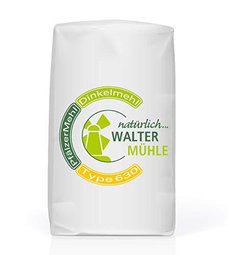 Dinkelmehl unbehandelt | Type 630 | Walter Mühle | 1kg (10 Pack) | Premium Bäckerqualität | Natur Pur