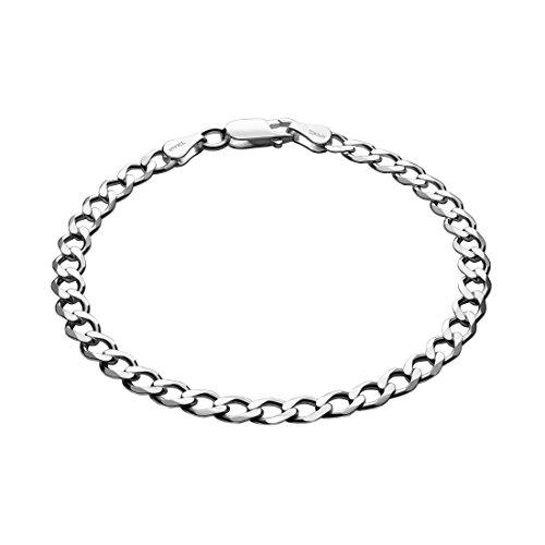 STERLL Herren Armkette Silber Sterlingsilber 925 21cm Geschenkverpackung Männer Geschenke