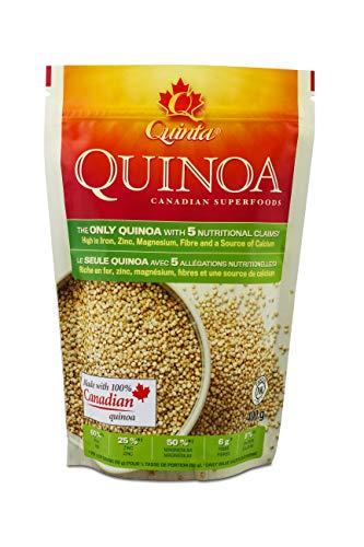 Quinoa Gluten free, Quinta Quinoa, High Iron Foods, 100% Whole Grain Vegan Foods High in Protein Low Carb foods; Local Quinoa Grain high in fiber, high in zinc and a source of calcium (2lb Bag)