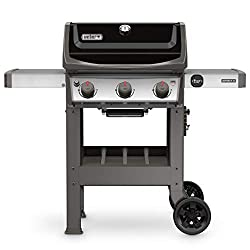 weber spirit gas grill for cooking hamburgers