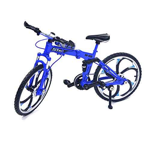 Ailejia Zinc Alloy Finger Mountain Bike Mini Bicycle Model Cool Boy Toy Decoration Crafts for Home (Blue)