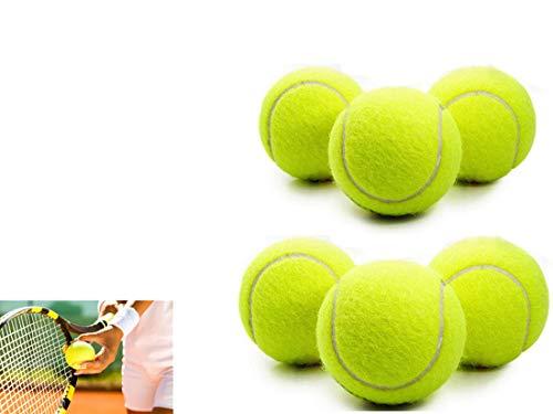 CMLLING Tennisballen, tennistrainingsballen, tennistrainingsapparaten voor kinderen en volwassenen (2 blikjes, 6 ballen)