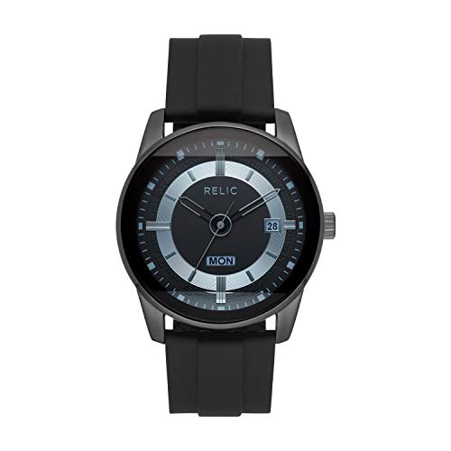 Relic by Fossil Men's Everet Quartz Metal and Silicone Sport Watch, Color: Black (Model: ZR12583)
