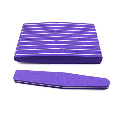 10piece Nail Art Polonais Tampon Buffing Ponçage Poncer Strip Bar Set De Polissage-lime En Forme De Diamant Éponge Barre De Fichiers Vernis À Ongles (violet)