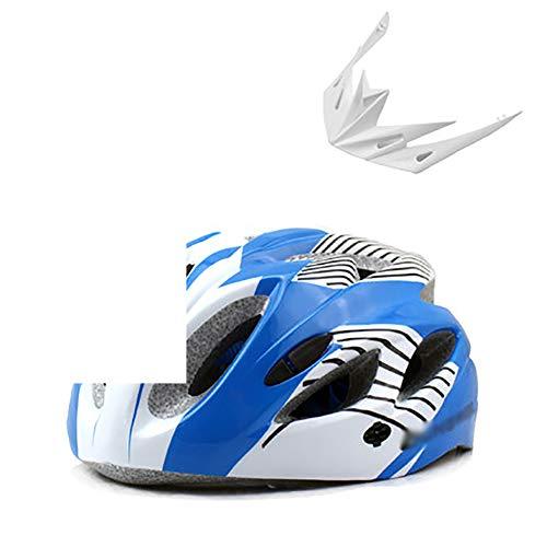 YXDDG Fietshelm voor volwassenen, ultralicht, integraal gevormde Eps veiligheidshelm, speciaal voor straat-, mountainbike-terreinen, met comfortabele afneembare wasbare antibacteriële pads 56-64cm(22-25inch) blauw (a)