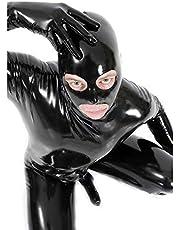 Traje de lencería de Cuero de la Laca Sexy de los Hombres Catwoman Látex Catsuit Vestido de Mono de Mono Vestido de Clubwear
