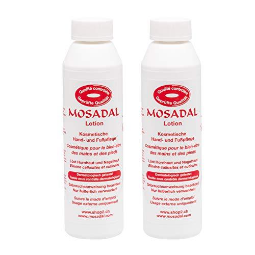 Mosadal® Hornhautentferner 500ml (2x 250ml) Nachhaltige und einfache Hornhautentfernung und Fußpflege
