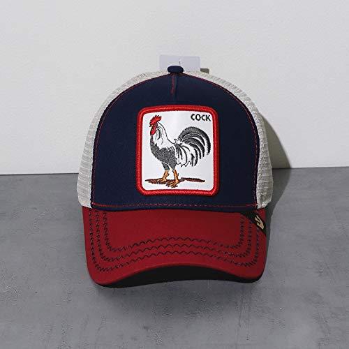 sdssup Eagle Gorra De Béisbol Bordada Gorra Bend Cap Gallo Rojo Azul Ajustable