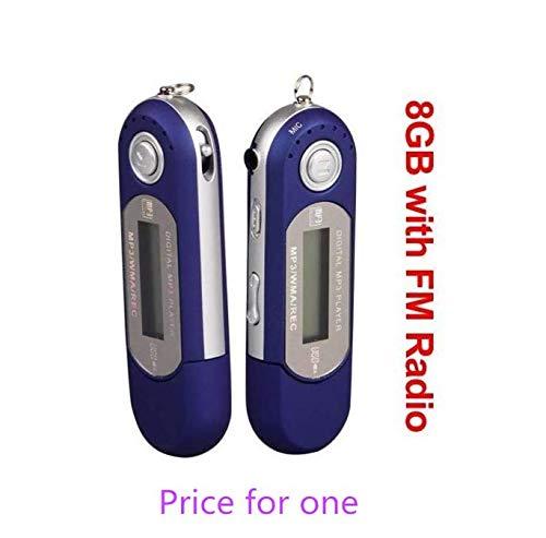 Ecloud ShopUS Blue 8GB 8G USB Flash Drive LCD Mini MP3 Player w/FM Radio