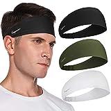 Sport Stirnband für Herren und Damen - Unisex Haarband Mode Stirnbänder Feuchtigkeitsableitendes Schweißband Anti Rutsch Elastisch Headband für Yoga, Laufen, Wandern, Fahrrad, Tennisbälle