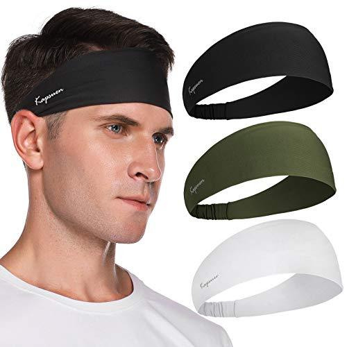 Cinta para el pelo deportiva para hombre y mujer, 3 unidades, elástica, antideslizante, para entrenamiento, yoga, tenis, fitness, correr, bicicleta y moto (color 04)