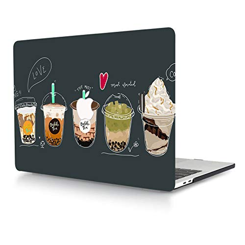 AJYX Case for MacBook Pro 15 inch 2015 2014 2013 2012 Release A1398 Smooth Touch Plastic Protective Shell with Pattern on Laptop Hard Case for MacBook Pro 15' with Retina Display, Milk Tea Painting