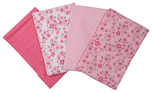 Laura Ashley 4 Pack Laddered Blankets, Pimlico Pink