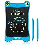 NEWYES Zaubertafel Maltafel 8,5 Zoll LCD Schreibtafel, Bunt Löschbare Zeichentafeln, mit 2 Stifte , Schiebeschalter zum Sperren, Malen für Kinder, Kindergeschenk ab 2 Jahre,Blau -