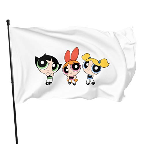 Ioejhkjk Banderas poliéster The Power-Puff