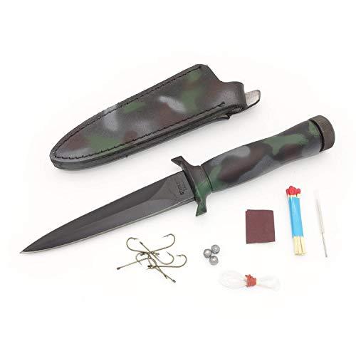Satief Survival Messer Tarnfarben Stiefelmesser & Zubehör - Stiefeldolch Jagdmesser