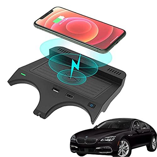 AutomóVil Cargador InaláMbrico para BMW 5 Series 2017 2018 2019 2020 2021 Panel de Accesorios de La Consola Central, 10w Qi Smartcarga InduccióN RáPida Almohadilla para Iphone Samsung