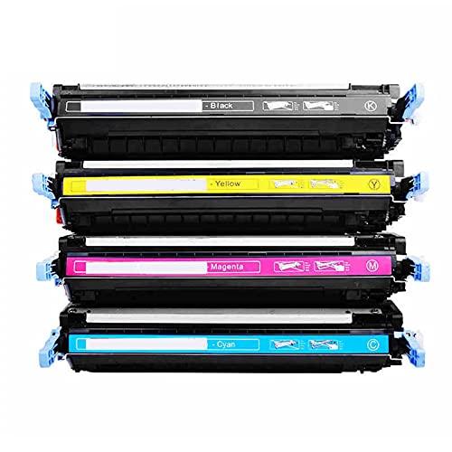 AXAX Compatible para HP Q9730A Q9731A Q9732A Q9733A Reemplazo de Cartuchos de tóner para HP Color Laserjet 5500 5500N 5500DN 5500DTN 5500HDN 5550HDN Impresora, Alto rendi Combination