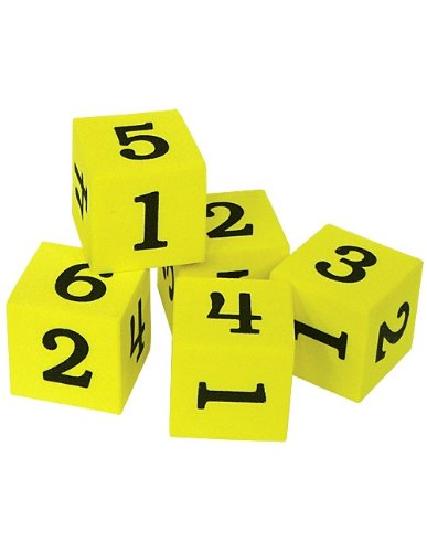 Teacher Created Resources Foam Numbered Dice (20604)