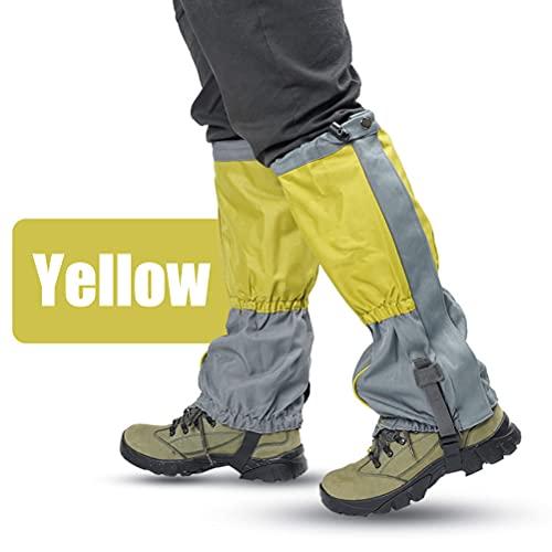 Asotagi Cubierta de protección de la pierna impermeable cubierta de la nieve de la cubierta de la protección de la pantorrilla para acampar al aire libre montañismo senderismo