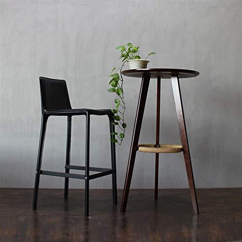 Seggiola da Bar Lusso Light Bar Chair Casa seggiolone Schienale Pianale da Cucina Sgabello Dining Chair Sgabello da Bar per la Cucina (Colore : Black, Size : Chair Height 70cm)