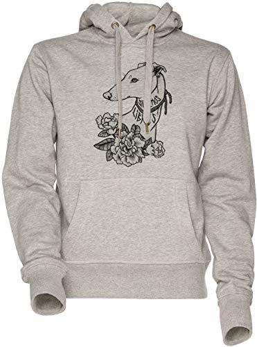 Vendax Seremos Libres - Greyhound Unisex Uomo Donna Felpa con Cappuccio Grigio Men's Women's Hoodie Sweatshirt Grey