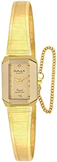 ساعة يد نسائية من أوماكس ، انالوج بعقارب ، سوار معدني ، ذهبي ، OMBG0082Q001