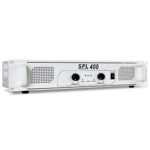 Skytec SPL-400 Amplificador PA DJ 1000W Blanco