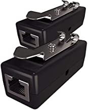 Ethernet Surge Protector (2 Pack) PoE+ Gigabit (with DIN Rail Mount Option) Gas Discharge Tube for Full Protection - RJ45 Lightning Suppressor - LAN Network CAT5/CAT6 Thunder Arrestor - Tupavco TP309