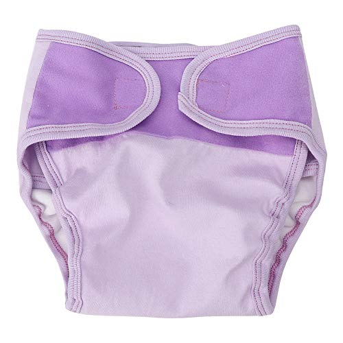 zcyg Pantalones para pañales, impermeables, transpirables, de algodón suave, lavables de tres capas, reutilizables, para bebés (morado M)