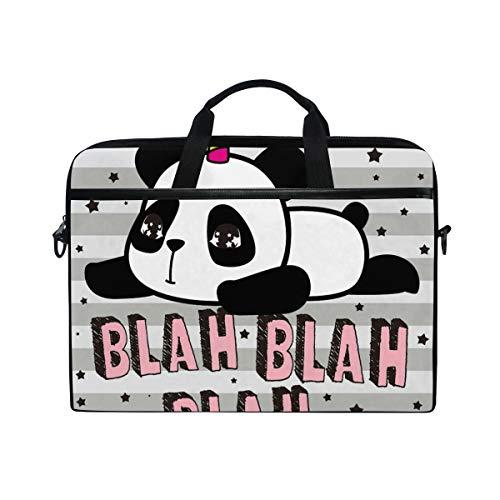 DOSHINE Laptop Bag Case Sleeve Cute Panda Unicorn Star Stripe Notebook Computer Bag for 14-14.5 inch Adjustable Shoulder Strap, Back to School Gifts for Men Women Boy Girls