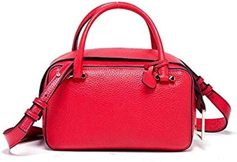 Bloomerang MC Fashion Women Handbag Tote Crossbody Bag Female TopHandle Bags Famous Brands Split Leather Handbags Shoulder Bag New color Red 22cm