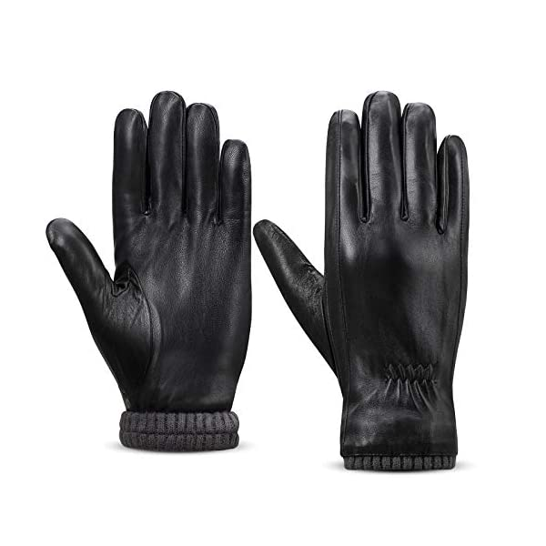 Alomidds Genuine Leather Winter Gloves 1