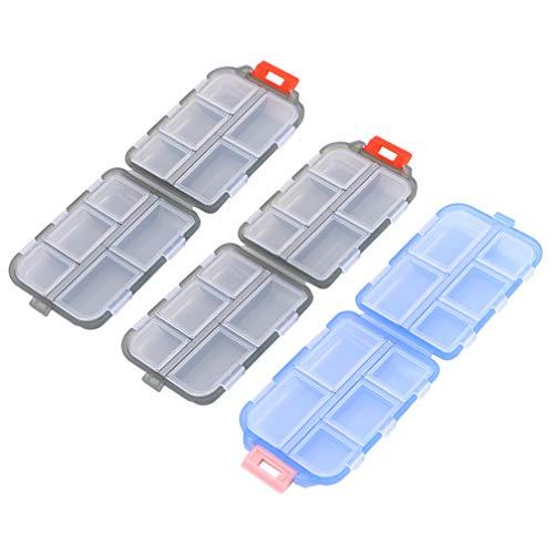 HEALLILY 3St Rese Piller Case 10 Kompartment Pill Arrangör Dubbla Lager Medicin Box Bärbar Dagliga Piller Container För Vitaminer I Fiskolja