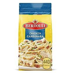 Bertolli Chicken Carbonara Frozen Meals With Spaghetti, Peas and Bacon in Alfredo Sauce, 22 oz.