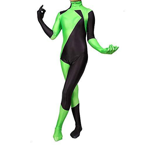 Kim Possible Kostüm Kind Erwachsener Cosplay Kostüm Superhelden Halloween Mottoparty Onesies 3D Druck Spandex Strumpfhosen,Adults-XL