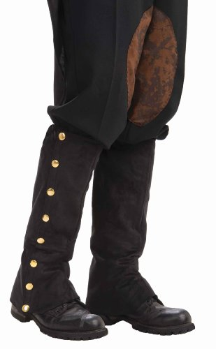 Forum Novelties Mens Adult Steampunk Suede Spats Costume Accessory, Black, One Size