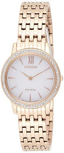 Citizen Damen Analog Quarz Uhr mit Edelstahl Armband EX1483-84A