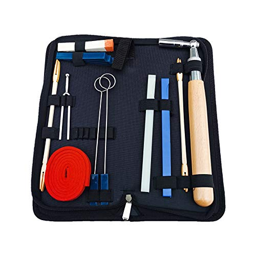 Piano Tuning Kit, 14pcs Commonly Used Piano Tuning Tools Including 13pcs Tools and Portable Case, for Tuning Beginner and Professional Tuner (14pcs pack)