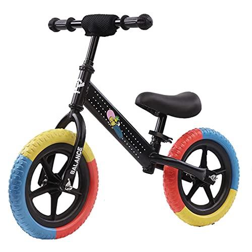 Yxxc Niños de 2 a 7 años sin Bicicleta de Equilibrio de Pedales 12 Pulgadas 14 Pulgadas (Rojo, Azul, Amarillo, Negro, Rosa)