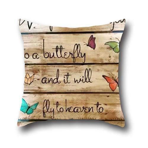 Janeeyre27 Schmetterlingskunst Kissen Sicherheitsgurt Chemo Port Bezug Chirurgie Brustkrebs Kissen Geschenk Dekorative Weiche Kissen Fall 45,7 x 45,7 cm