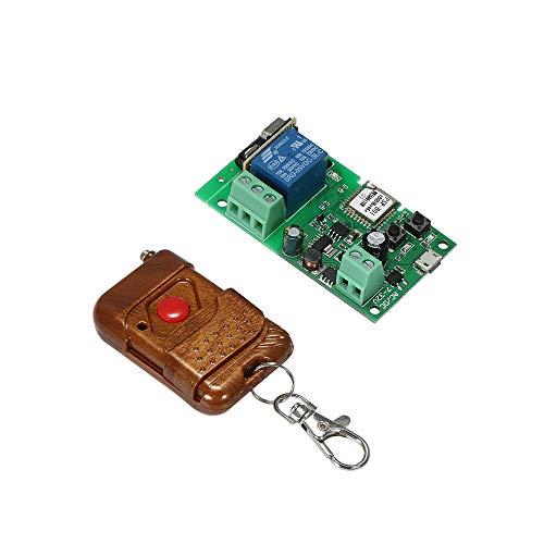 Sonoff Intelligente Interruttore WiFI, Senza Fili RF 433 MHz DC5V 12V 24 V 32 V Modulo Relè Interruttore Timer Telecomando APP Compatibile con Amazon Alexa Google Home Con telecomando
