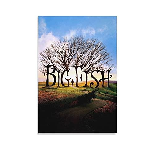 TONGDIAN Póster clásico de Big Fish-Tim Burton de película de fantasía para...