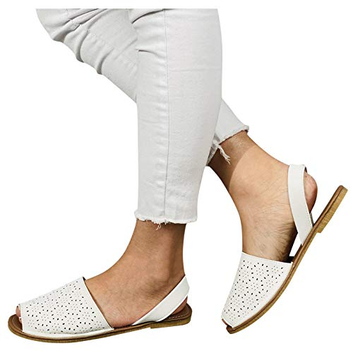 ZYAPCNGN Flip Flop for Fashion Women's Casual Shoes Breathable Flat Outdoor Leisure Sandals Slippers Gifts for Women White