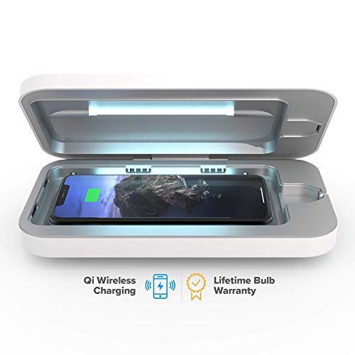 PhoneSoap Wireless UV Smartphone Sanitizer & Qi Charger | Patented & Clinically Proven UV Light...
